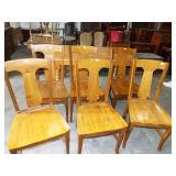 6 WOOD DINING ROOM CHAIRS