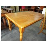 TURNED LEG DINING TABLE
