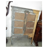 EARLY PUNCHED TIN PIE SAFE
