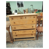 PRIMITIVE SOFTWOOD 2 OVER 4 DRAWER CHEST