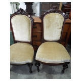 CARVED BACK SIDE CHAIRS