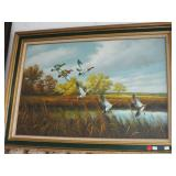 FRAMED WATERFOWL PICTURE