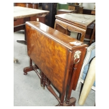 EARLY NARROW DROP LEAF BOAT STYLE TABLE