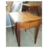 SMALL EARLY TAPERED LEG DROP LEAF TABLE