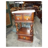 UNUSUAL MARBLE TOP STAND