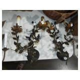 FLOWER AND VINE WALL SCONSES