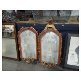 PAIR GOLD GUILD MIRRORS