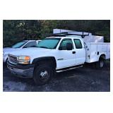 2001 GMC Dully Pickup Truck W/ Reading Truck Body