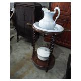 WASHSTAND WITH PITCHER AND BOWL
