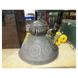 PUNCHED TIN HANGING LAMP