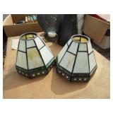 LEADED GLASS SHADES