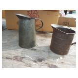 TIN MEASURE AND PITCHER