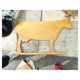 FOLKART WOOD COW