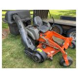 Husqvarna MZ52LE zero turn mower w/power bag system, 292 hours.