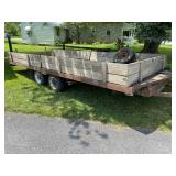 18' open trailer with sides.
