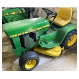 John Deere 210 lawn tractor with mower deck
