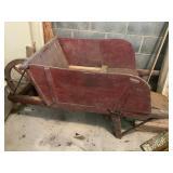 Wooden wheel barrow