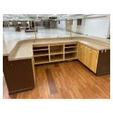 Back of of customer service desk