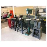 Grizzly band saw & drill press, B&D band saw, Craftsman band saw & sander