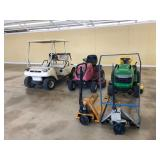 pallet jacks, project mowers & golf cart