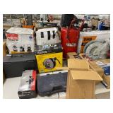 Shop Vac, Ultra-tow jack, Ironton air compressor, hose reels