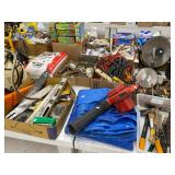 used hand tools, cords, levels, etc