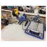 DeWalt miter saw, Graco paint sprayer, Kobalt tile saw