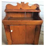 PINE HIGH BACK DRY SINK