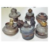 ASSORTED OIL LAMPS PARTS