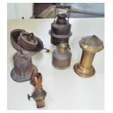 ASSORTED OIL LAMP PARTS