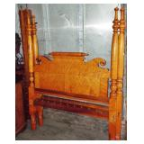 EARLY TIGER MAPLE HIGH POST ROPE BED