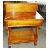 EARLY TIGER MAPLE OPEN WASHSTAND