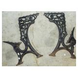 EARLY CAST IRON DESK FRAME