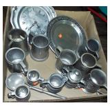 ASSORTED MODERN PEWTER