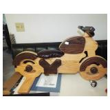 CHILD WOODEN MOTORCYCLE TOY