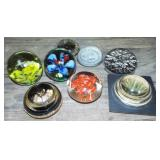 ASSORTED GLASS PAPER WEIGHTS