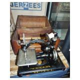 EARLY SMALL PORTABLE SEWING MACHINE