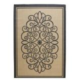Border Iron Gate 8x11ft Indoor/Outdoor Area Rug