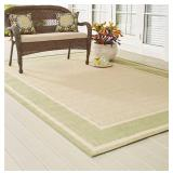 HB Tan/Green 8x11ft Indoor/Outdoor Area Rug