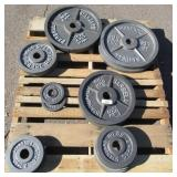 19x Standard barbell weights