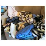 Pallet of Clothes and blankets