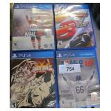 4x PS4 Video Games