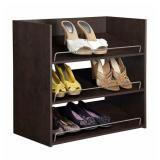 3x Closetmaid 3-Shelf Chocolate Shoe Organizers