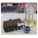 Anniversary Clock, Signed Paper weight and more