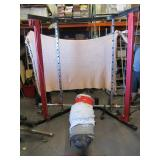 Power rack weight lifting station