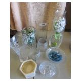 Glass Vases & Candy Dishes