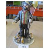 Flambro Emmett Kelly Large Clown w Balloons