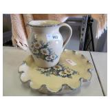 Case Pottery Texas 8in Pitcher and Platter