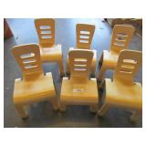 6x Childrens Wooden Chairs