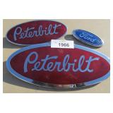 Chrome Peterbilt & Ford Badges